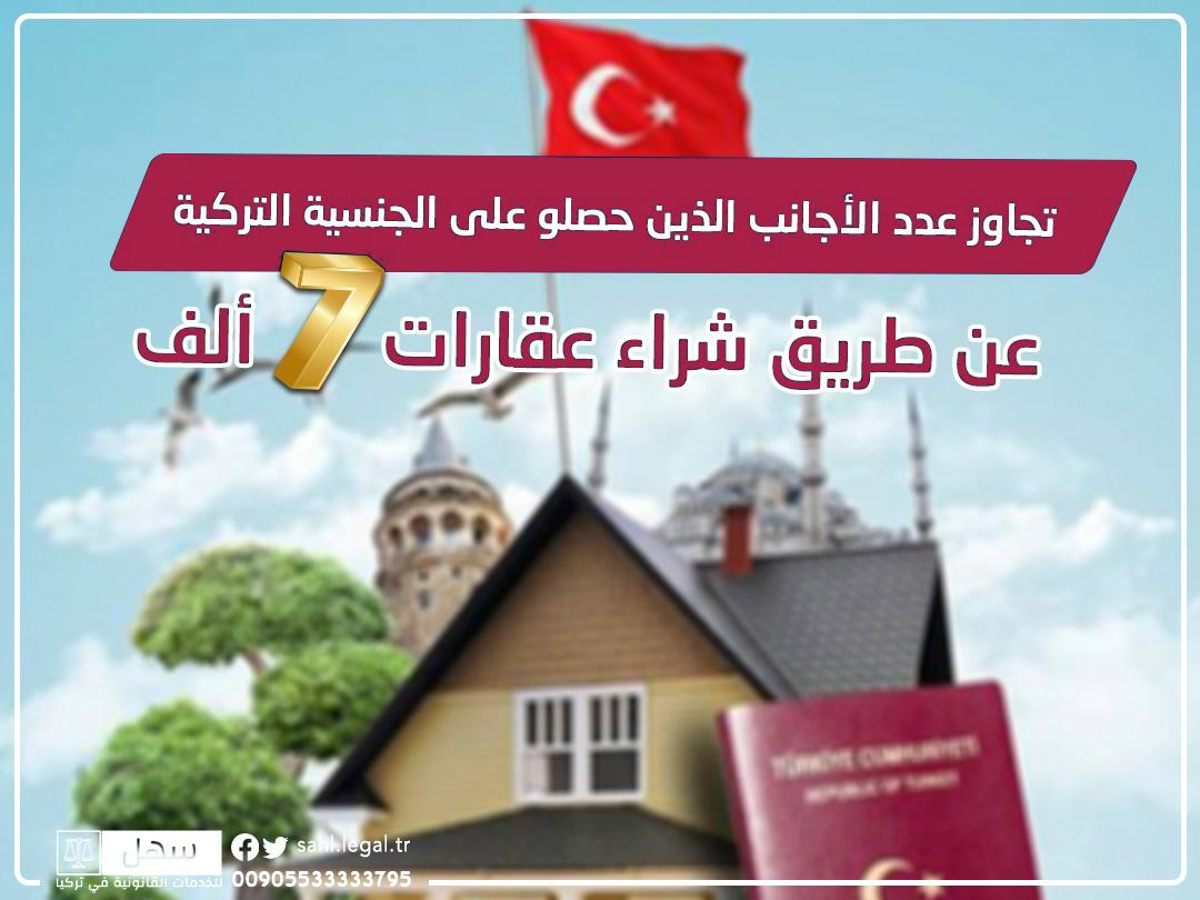المستثمرين في عقارات تركيا تجاوزوا 7 آلاف شخص...