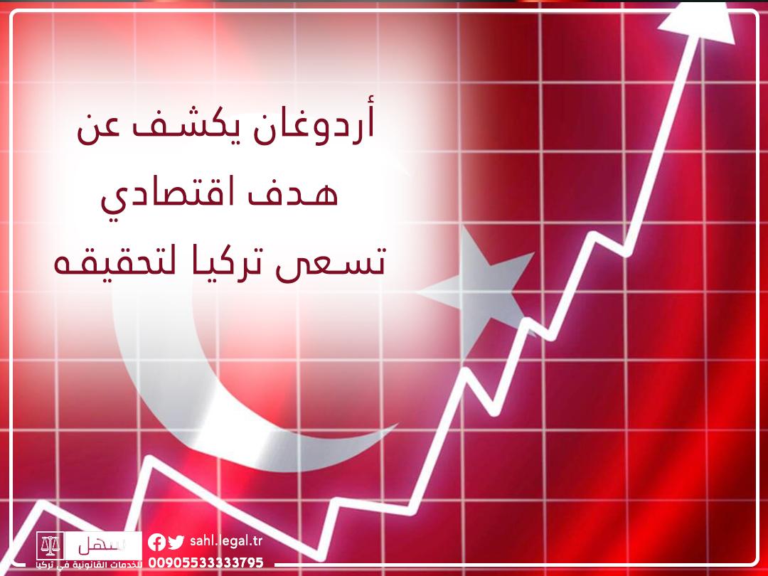 أردوغان يكشف عن هدف اقتصادي تسعى تركيا لتحقيقه...